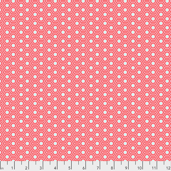 Flamingo Hexy - Tula's True color by Tula Pink for Free Spirit Fabrics - $17.99/m