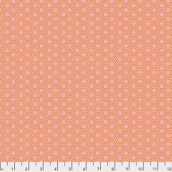 Peachblossom Hexy - Tula's True Colors by Tula Pink for Free Spirit Fabrics - $17.99/m