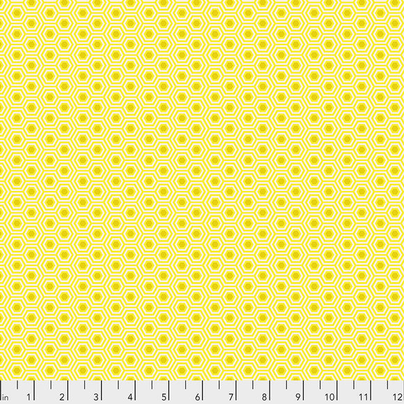 Sunshine Hexy - Tula's True Colors by Tula Pink for Free Spirit Fabrics - $17.99/m
