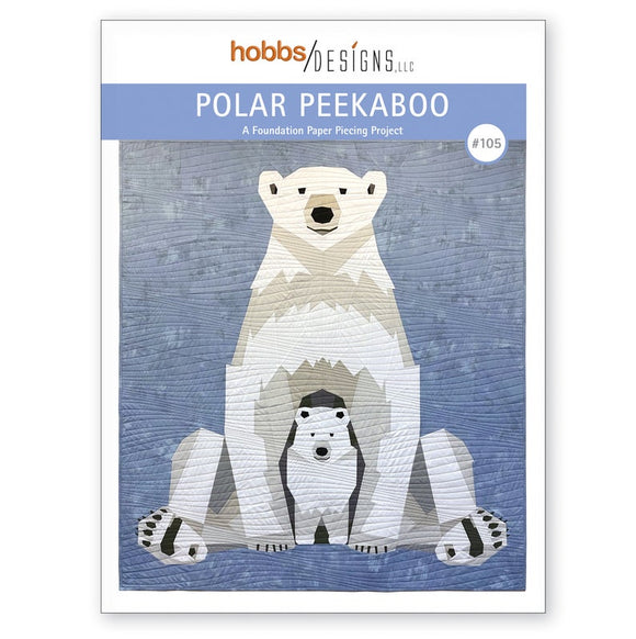 Polar Peekaboo Foundation Paper Piecing Pattern - Christine Hobbs for Hobbs Designs