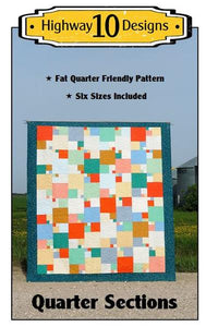Quarter Sections Quilt Pattern by Highway 10 Designs