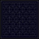 Sashiko Sampler Traditional Design - Dragonfly - Navy