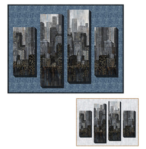 "Skyscrapers Quilt Kit - City Lights by Northcott Fabrics - 52"" x 40"""