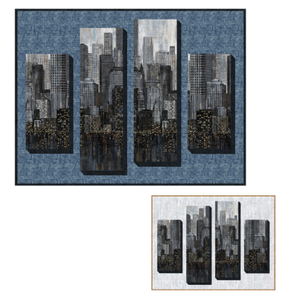 Skyscrapers Quilt Kit - City Lights by Northcott Fabrics - 52