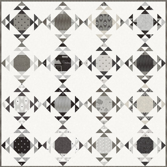 Moonwake Quilt Kit Featuring Rust And Smoke by Lella Boutique For Moda Fabrics