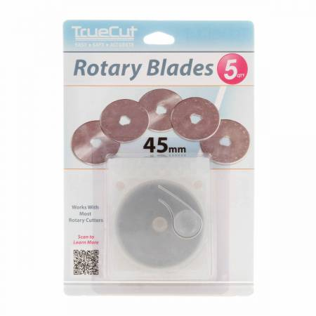 45mm Rotary Cutter Blade by True Cut - 5 Pack