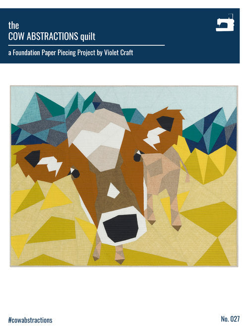 The Cow Abstractions Quilt - Foundation Paper Piecing Pattern by Violet Craft