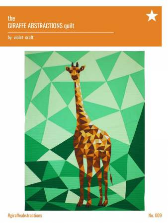 The Giraffe Abstractions Quilt - Foundation Paper Piecing Pattern by Violet Craft