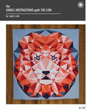 The Jungle Abstractions Quilt - The Lion - Foundation Paper Piecing Pattern by Violet Craft