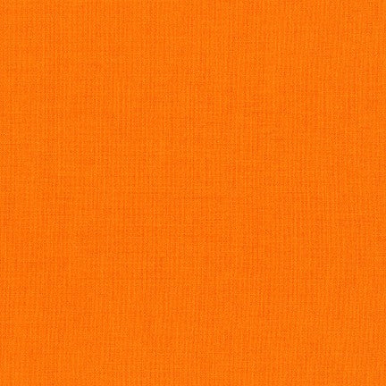 Clementine - Kona Cotton Solids by Robert Kaufman