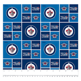 Winnipeg Jets - 100% Cotton Woven Fabric - In Stock!