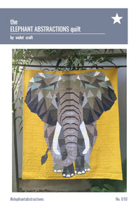 The Elephant Abstractions Quilt - Foundation Paper Piecing Pattern by Violet Craft