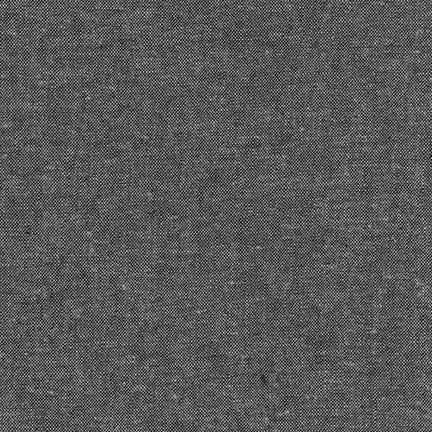Charcoal - Essex Cotton/ Linen Blend by Robert Kaufman Fabrics