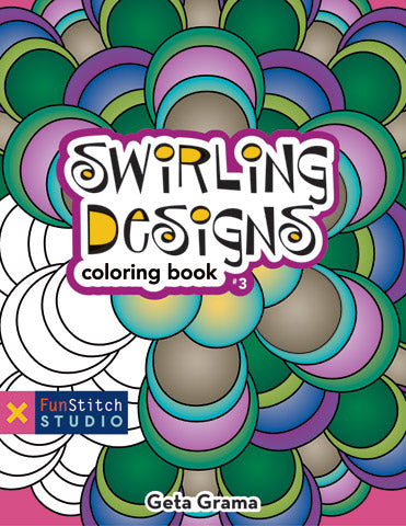Swirling Designs Coloring Book by Geta Grama