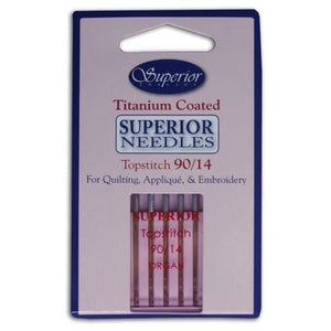 Superior Topstitch Needles - Size 70/10 80/12 90/14 and 100/16