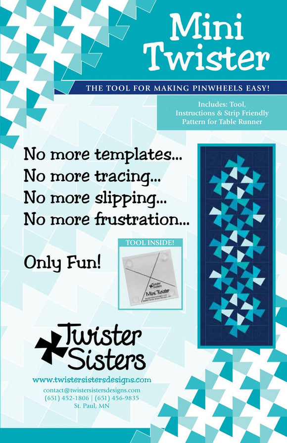Mini Twister Template Pattern by Twister Sisters