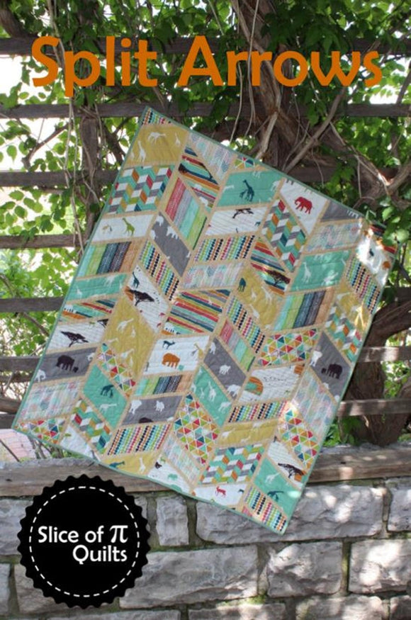 Split Arrows Quilt Pattern by Slice of Pi Designs
