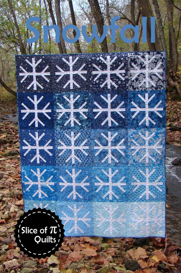 Snowfall Quilt Pattern by Slice of Pi Designs
