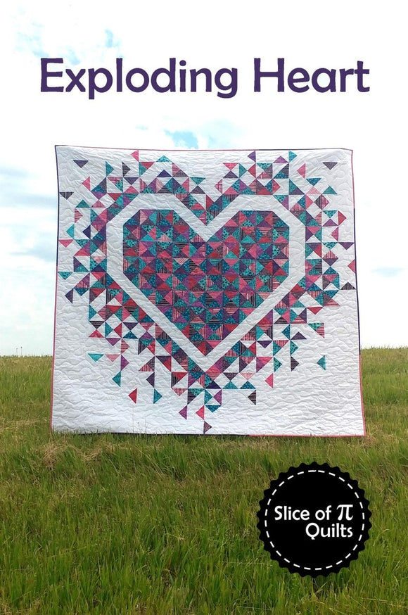 Exploding Heart Quilt Pattern by Slice of Pi Designs