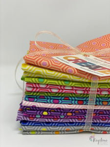 Hexy Fat Quarter Bundle (12 FQs) - Tula's True Colors by Tula Pink for Free Spirit Fabrics