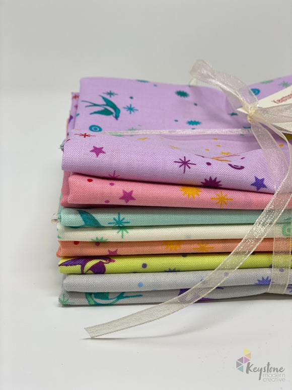 Fairy Dust Fat Quarter Bundle (7 FQs) - Tula's True Colors by Tula Pink for Free Spirit Fabrics
