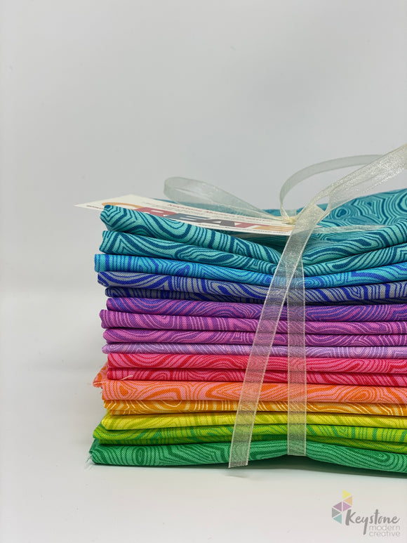 Mineral Fat Quarter Bundle (12 FQs) - Tula's True Colors by Tula Pink for Free Spirit Fabrics