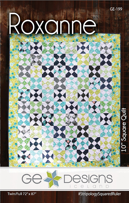 "Roxanne Quilt Pattern by Gudrun Erla for GE Designs - Uses 10"" Squares (Layer Cakes)!"