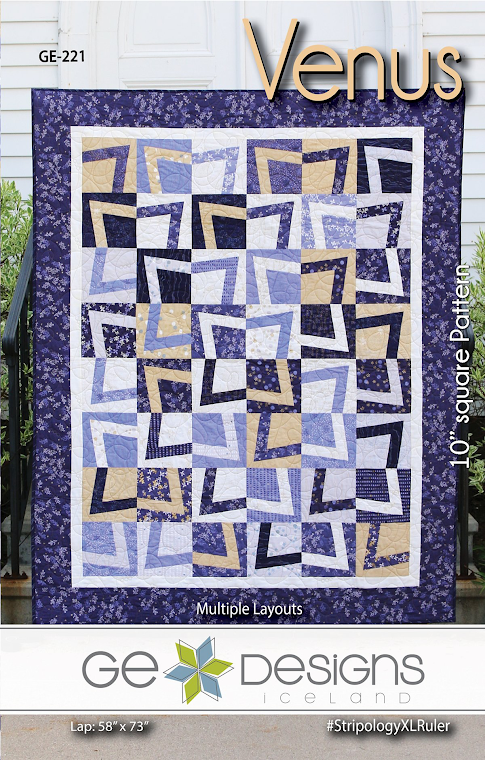 "Venus Quilt Pattern by Gudrun Erla for GE Designs - Uses 10"" Squares (Layer Cakes)!"