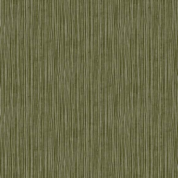 Green - Stripe - Cotton/Linen - Harmony by Ghazal Razavi for Figo Fabrics - $22.99/m