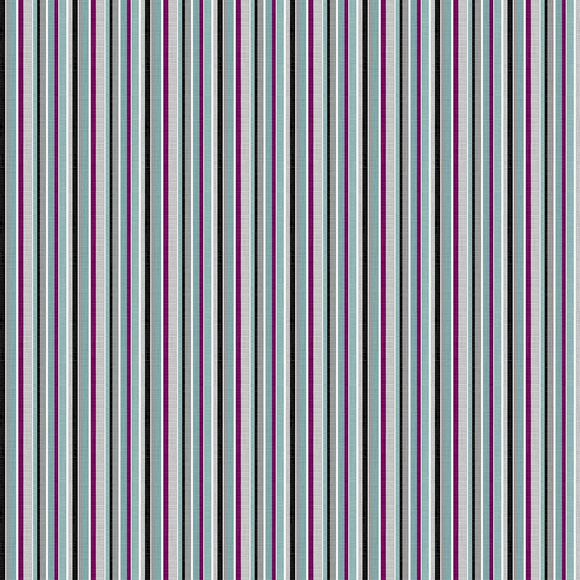 Multi Barcode Stripe - Silhouette by Deborah Edwards for Northcott Studio - $17.96/m ($16.56/yd)