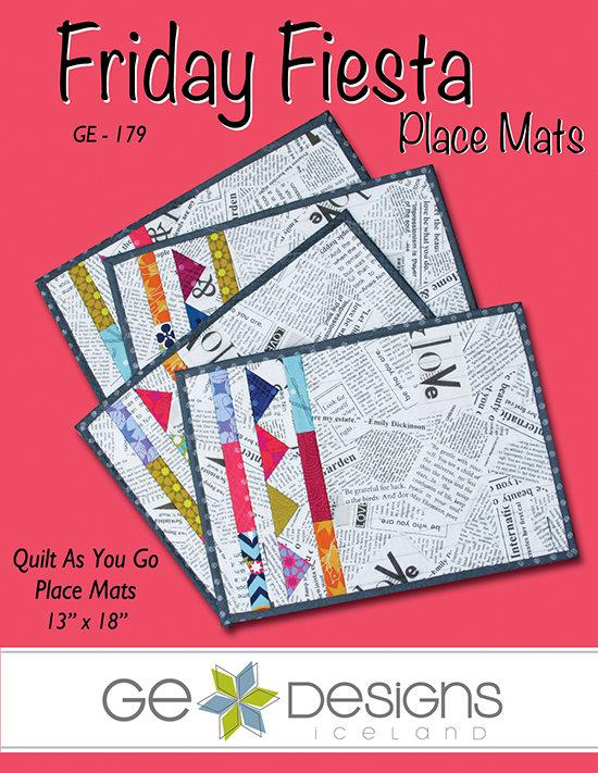 Friday Fiesta Placemats Pattern by Gudrun Erla for GE Designs