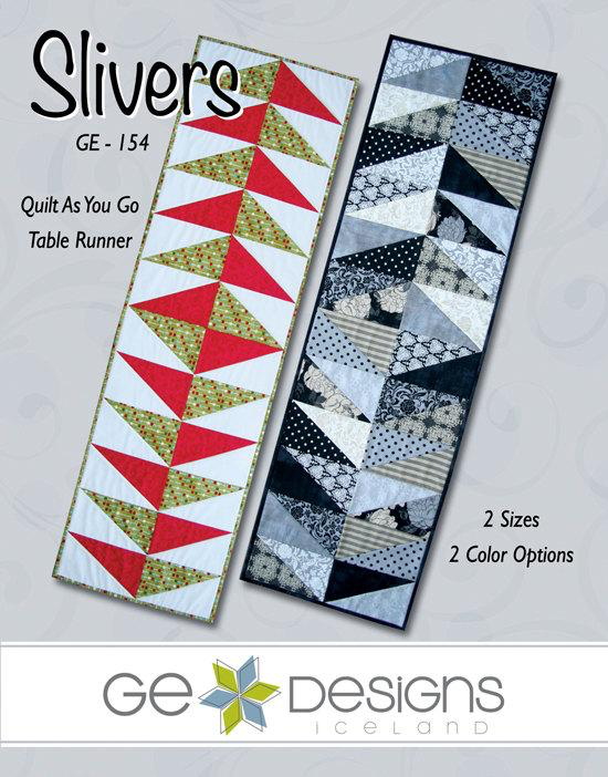 Slivers Quilt As You Go Table Runner Pattern by Gudrun Erla for GE Designs