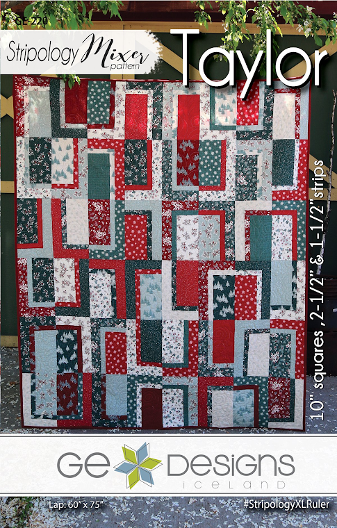 "Taylor Quilt Pattern by Gudrun Erla for GE Designs -  Uses 10"" Squares (Layer Cakes)!"