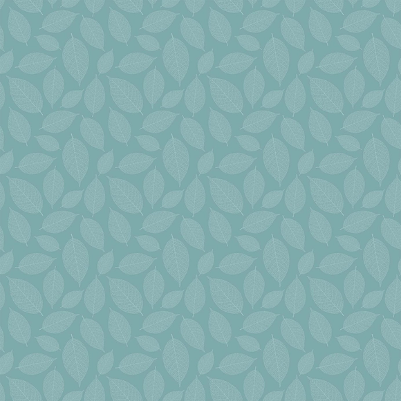 Nordic Sky Small Leaves - Silhouette by Deborah Edwards for Northcott Studio - $17.96/m ($16.56/yd)