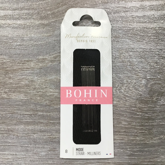 Bohin Straw-Milliners needles size 8