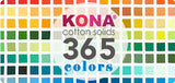White Mini Bolt (5m) - Kona Cotton Solids by Robert Kaufman - BONUS Mini Bolt Roller
