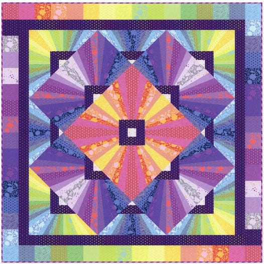 PRE ORDER Solar Flare Quilt Kit Featuring True Colors by Tula Pink for Free Spirit Fabrics - DUE JULY 2021