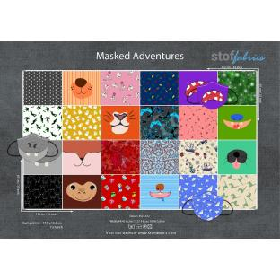 Masked Adventures - Mask Panel by Stof Fabrics - 36