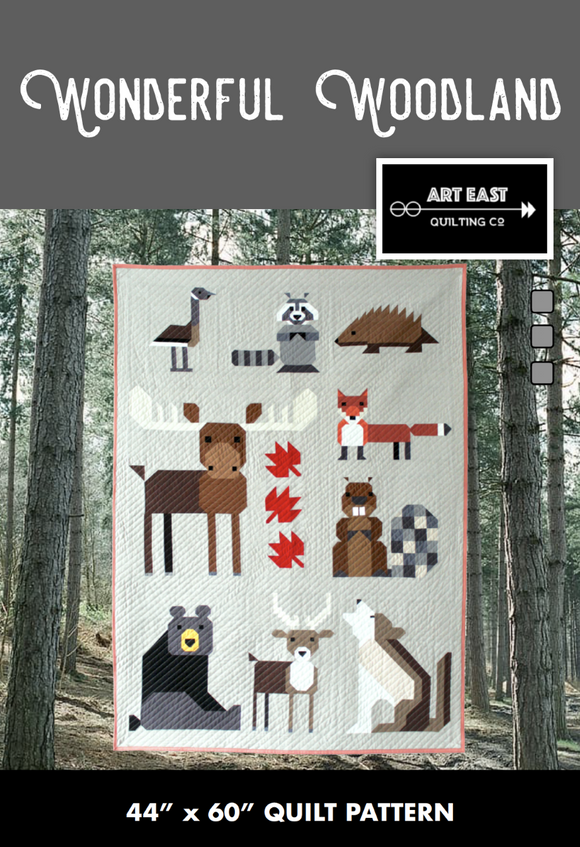 Wonderful Woodland Quilt Pattern by Art East Quilting Co