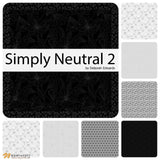 Grey/Black - 23917-98 - Simply Neutral 2 by Northcott Fabrics