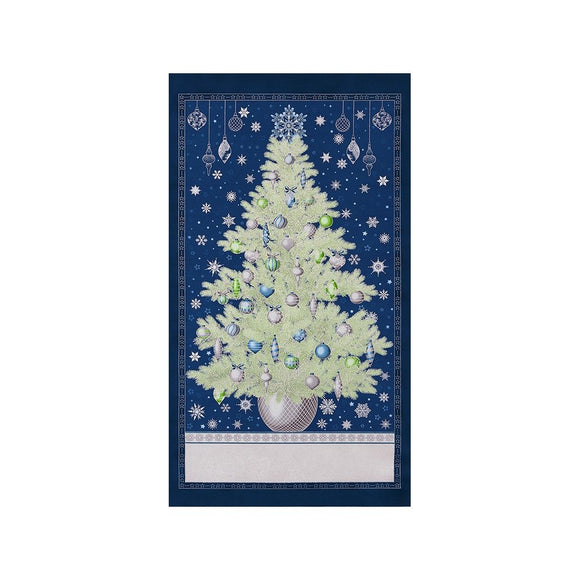Christmas Tree - Winter's Grandeur Quilt Panel by Robert Kaufman -