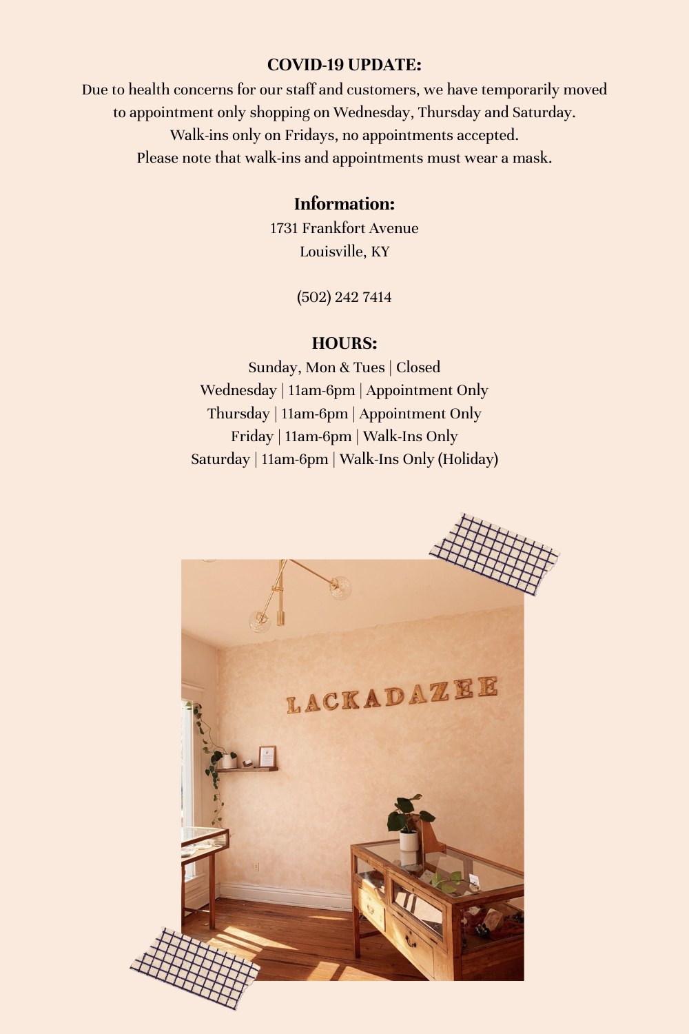 Lackadazee-Address-And-Hours