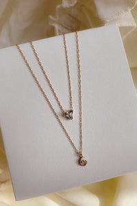 Diamond Nugget Necklace | Recycled 14k Gold