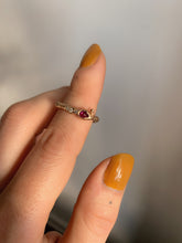 Load image into Gallery viewer, rose-gold-snake-ring-with-rubies-and-diamonds