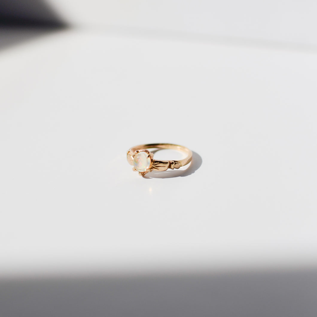 Aurora Solitaire Ring | Recycled 14k Gold