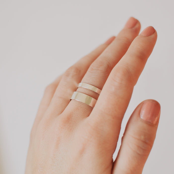 Wide Band | Recycled Sterling Silver