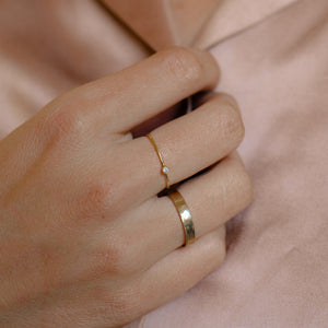 Diamond Stack Ring | Recycled 14k Gold