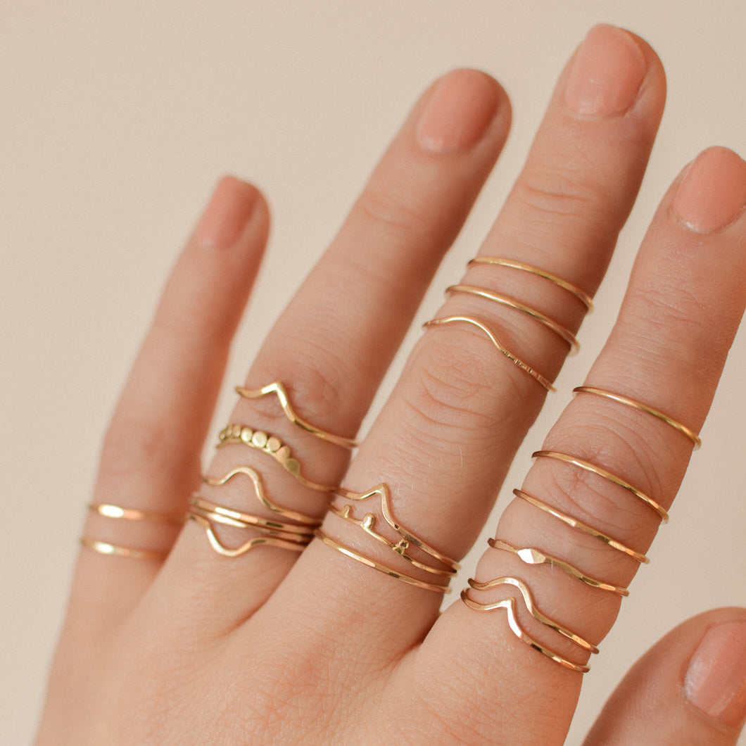 Mystery Stacking Ring | Recycled 14k Gold