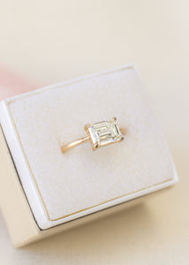 Custom Diamond Engagement Ring | Recycled 14k Gold