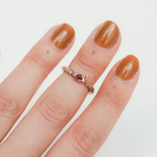 Load image into Gallery viewer, wrap-around-rose-gold-snake-ring-with-ruby-and-diamonds